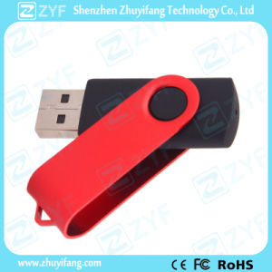 Red Swivel Black Plastic 4GB USB Drive (ZYF1815) pictures & photos