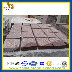 Bush-Hammed Red Granite Square Stone Pavers (YQZ-PS) pictures & photos