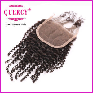 Hair Closure, Kinky Curly, Nautral Color pictures & photos