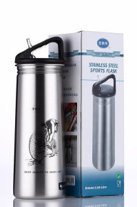 Stainless Steel Single Wall Outdoor Sports Water Bottle Ssf-580 Flask Stainless Steel Flask pictures & photos