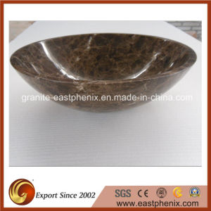 Emperador Dark Marble Stone Sink pictures & photos
