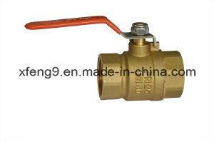 Brass Ball Valve with Steel Handle pictures & photos