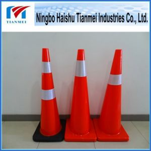 90cm Height PVC Traffic Cone, Road Safety Cone pictures & photos