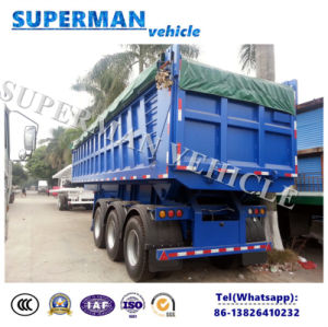 Three Axle Hydraulic Cylinder Dump Truck/ Rear Tipping Trailer pictures & photos