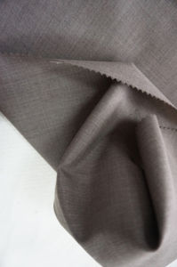 Brown Plain Weave Wool Fabric pictures & photos
