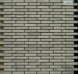 Grey Strip Natural Stone Mosaic of Building Wall (FYSC358) pictures & photos
