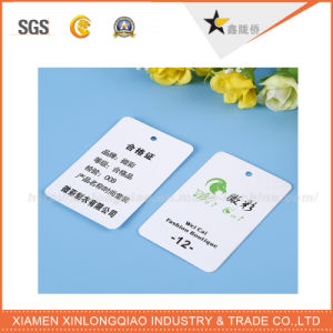 Eco-Friendly White Cardboard Garment Accessories Label Hang Tag pictures & photos