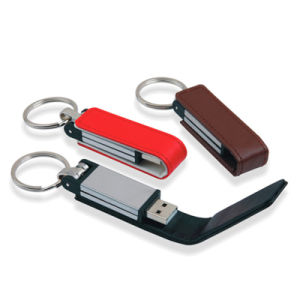 Leather USB Flash Drive 1g~64G Keyring Pendrive pictures & photos