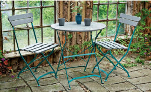 Classic Popular Cheap Outdoor Patio Restaurant Furniture Garden Metal Folding Table and Chairs pictures & photos