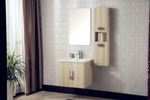 Multi-Layer Solid Wood Bathroom Vanity with Side Cabinet
