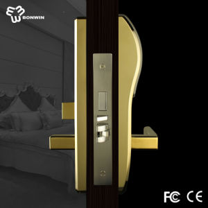 Wireless Electronic Keyless Mortise Door Handle Lock for Hotel pictures & photos