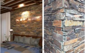 Hot Saled S1120 Rusty Natural Slate Cement Back Stone Panel (SMC-CC160) pictures & photos