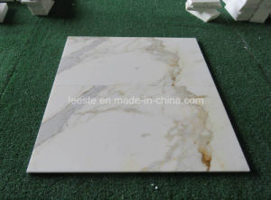 Hot Sell Chinese Calacatta Gold White Marble Tile pictures & photos