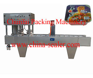 2015 New Good Quality Noodle Bowl Sealing Machine pictures & photos