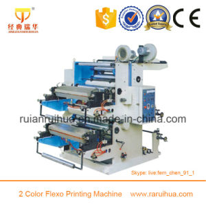 Double Side Two Color Flexo Printing Machine pictures & photos