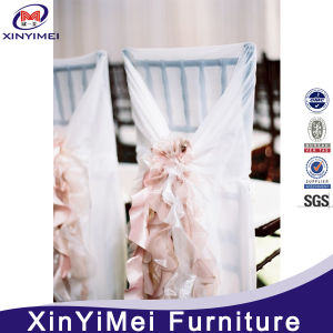 Fancy Chiffon Curly Willow Chair Cover Sash, Ruffled Wedding Chair Covers pictures & photos