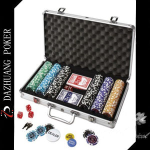 Poker Chip Set with 300 Chips and 2 Decks of Poker pictures & photos
