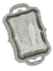 Jamaica Map Ashtray for Promotion Gift (AT451) pictures & photos