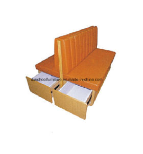 Orange Duble Sofa Booth with Drawer pictures & photos