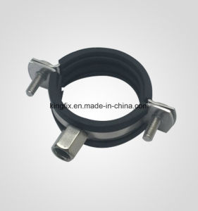 Stainless Steel Pipe Clamp with Rubber pictures & photos