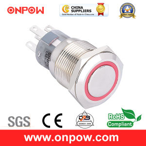 Onpow Metal Push Button Switch (LAS1-AGQ-11E/R/12V/N, 19mm, CE, UL, CCC, RoHS) pictures & photos