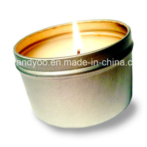 Scented Soy Tin Candle with Colorful Bowknot pictures & photos
