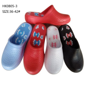 Popular Lady EVA Clogs Garden Shoes Slipper (HK0805-3) pictures & photos