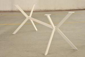 Office Table Leg X Shape Steel Meeting Table Leg 1802