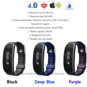 Waterproof IP65 Bluetooth Smart Bracelet with Heart Rate Monitor (H29) pictures & photos