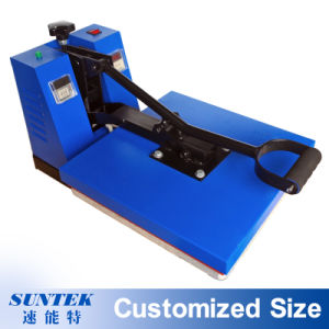 Flat Clamshell Sublimation Transfer Heat Press for Fabric Printing pictures & photos