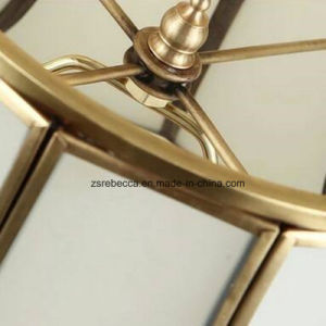 European Hotel Decorative Glass Shade Brass Bedside Table Lamp pictures & photos