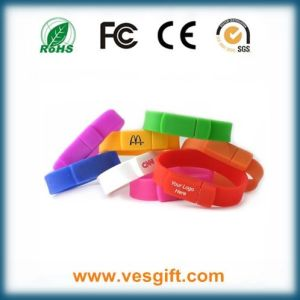 Wristband USB Flash Disk, Bracelet USB Flash Drives pictures & photos