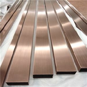 Stainless Steel U-Trim, Hairline Rose Gold Color Stainless Steel Trim for Hotel Projects pictures & photos