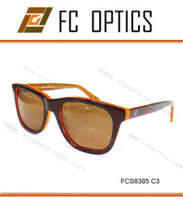 Brown Color Acetate UV400 Polarized Glasses Frame in China pictures & photos