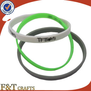 Silicon Bracelet Engrave Print Logo pictures & photos