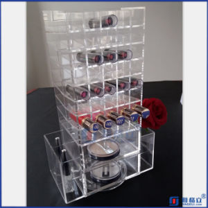 Clear Spinning Acrylic Lipstick and Powder Holder Organizer pictures & photos