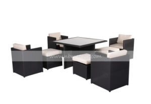 Mtc-017 Dining Table Set Outdoor Furniture with Ottoman pictures & photos