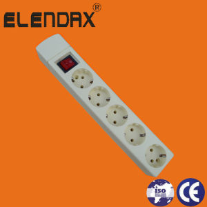 5-Way European 2pin 16A Power Strip Socket and Switch (E9005ES) pictures & photos