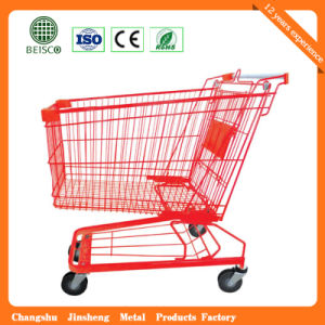 Hot Sale Four Wheel Shopping Trolley with Chair pictures & photos