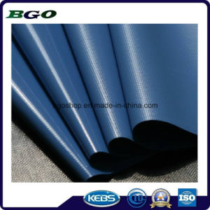 PVC Cold Laminated Tarpaulin Waterproof Fabric Tarp (500dx300d 18X12 300g) pictures & photos