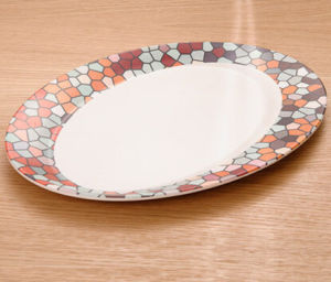 Bamboo Fiber Tableware Plate with Print (BC-P1012) pictures & photos