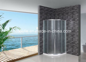 Acid Glass Shower Screen with White Water Bar (AS-904) pictures & photos