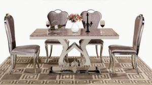 Elegant Marble Dining Table Set for Home or Restaurant (SDT-002) pictures & photos