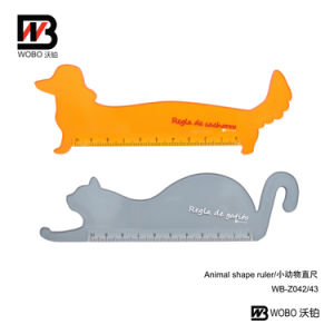 2016 Office Stationery Measuring Animal Shape Cartoon Plastic Ruler