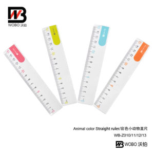 Colorful 15cm Plastic Ruler for Office Stationery Use