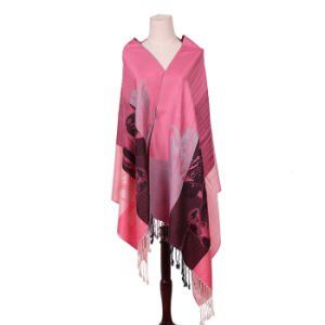 Women′s Pink Scarf Winter Warm Pashmina 170*68cm pictures & photos