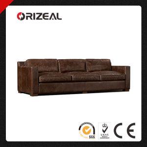 Orizeal 1930s Deco Design Collins Genuine Leather Sofa (OZ-LS-2023) pictures & photos