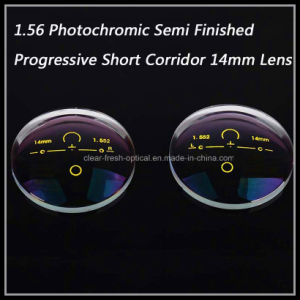 1.56 Photochromic Semi Finished Progressive Short Corridor 14mm Lens pictures & photos