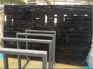 Dragon/Portoro Silver Black Marble for Hall Floor, Lobby Tiles, Paving