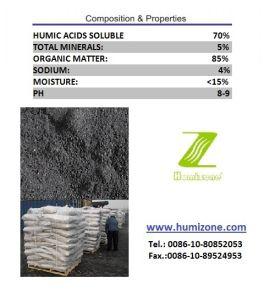 Humizone Organic Fertilizer From Leonardite: Sodium Humate Powder pictures & photos